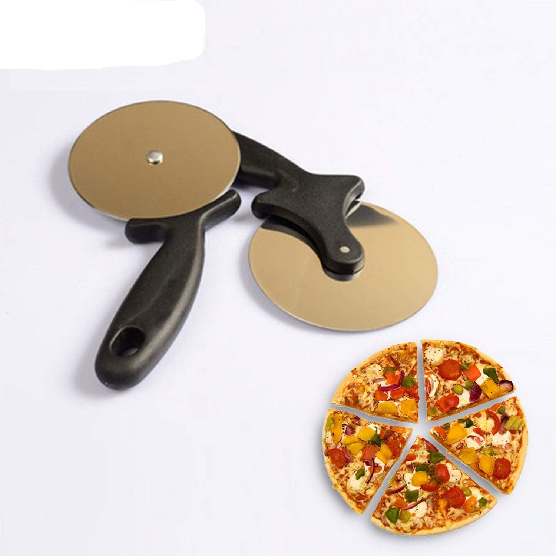 Rond Pizza Cutter en acier inoxydable avec Plastique Poignée Pizza Cutter Pâtisserie Pâte