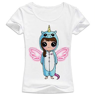 JLTPH Sudaderas de Mujer Sport Manga Corta Camisetas Estampada Unicornio Impresión Tops: Amazon.es: Ropa y accesorios