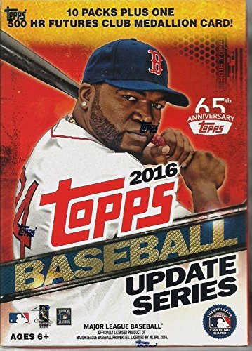 2016 Topps Update Series Baseball Cards Blaster Box. This Value Box Contains 10 Packs Plus 1 Exclusive 500 Futures Medallion (Baseball Value Box)