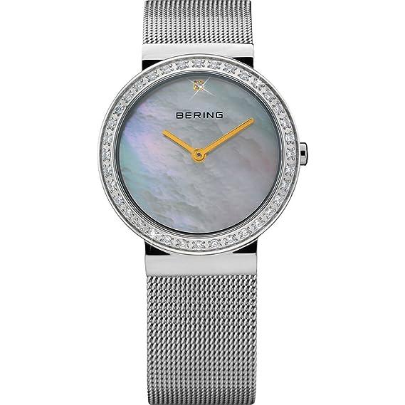 Bering Time Classic - Reloj de cuarzo para mujer, con correa de acero inoxidable, color plateado: Amazon.es: Relojes