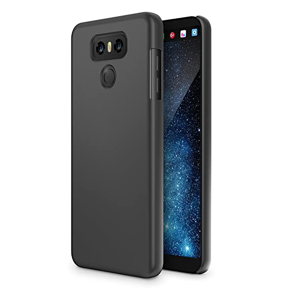 new styles 7fcd2 ca05e LG G6 Case, Maxboost mSnap Thin Cases [Black] Extreme Smooth Surface with  Anti-Slip Matte Coating for Excellent Grip Hard Protective PC Covers for LG  ...