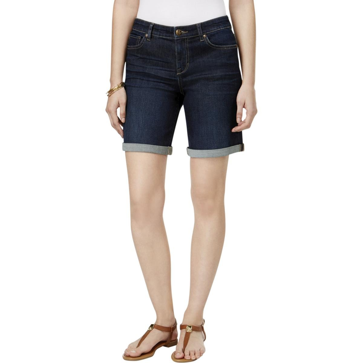Style & Co. Womens Plus Mid Rise Cuffed Denim Shorts Denim 4 by Style & Co.
