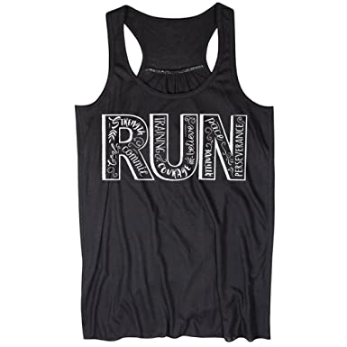 62c8436284790b Gone For a Run Run with Inspiration Flowy Racerback Tank Top ...