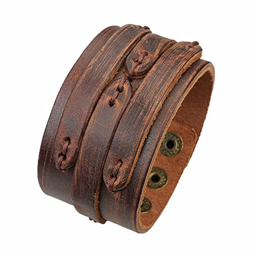 Zysta Genuine Leather Braided Wristband Handmade bracelet for men