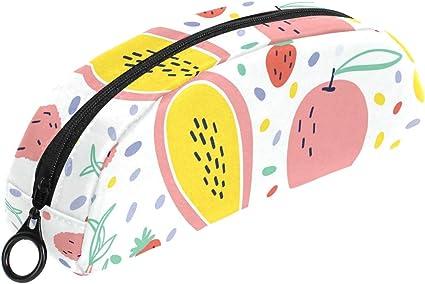 Estuche con estampado de frutas para lápices con cremallera, bolsa de maquillaje pequeña para niños, niñas, adolescentes y escuela: Amazon.es: Oficina y papelería