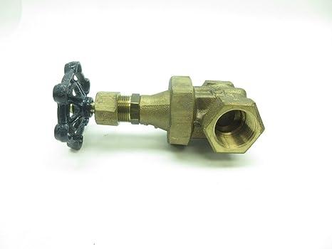 POWELL FIG 2712 Bronze 125 Threaded 1IN NPT Wedge GATE Valve D598833