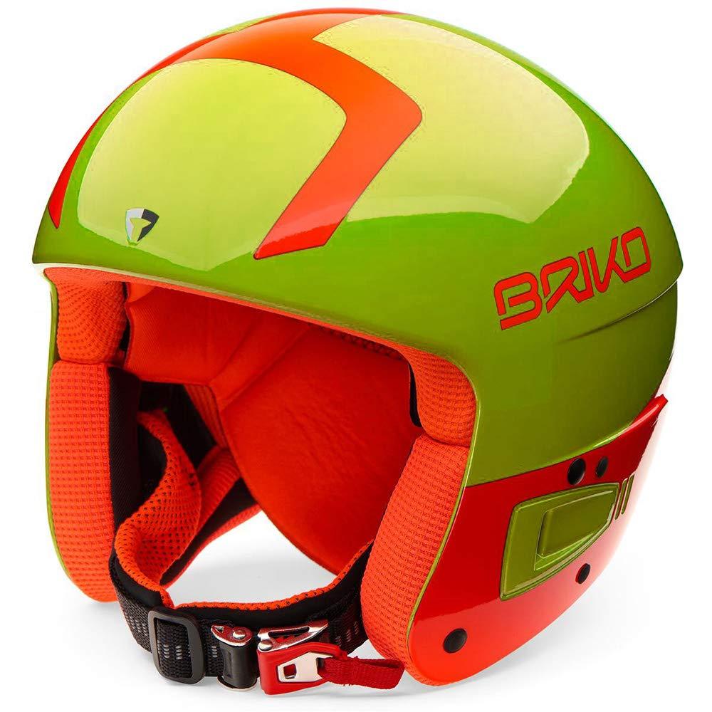 BRIKO(ブリコ)ボルケーノジュニア 子供用 レーシング ヘルメット スキー スノーボード FIS認定モデル 2000030 C11シャイニーイエロー Small