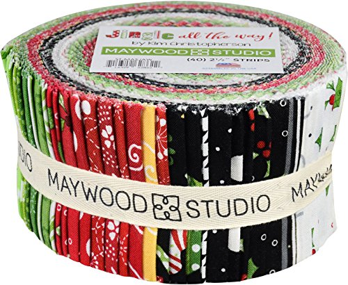 Cotton Candy Quilt Shop (KimberBell Designs Jingle all the Way Strips 40 2.5-inch Strips Jelly Roll Maywood Studio)
