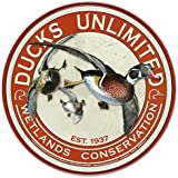 Ducks Unlimited Round Retro Vintage Tin Sign 12 x 12in