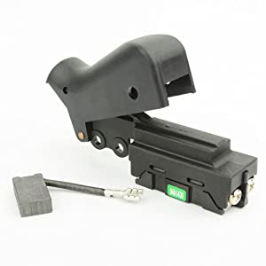 Superior Electric DW708KIT Switch and Carbon Brush Kit for Dewalt DW708 Miter Saw Replaces 153609-00, 381028-02 & 381028-08