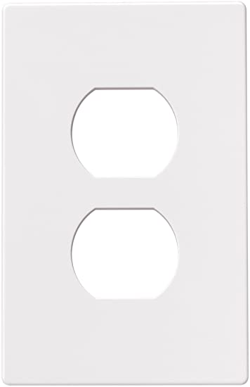 eaton pjs8w 1gang screwless duplex receptacle mid size wall plate white
