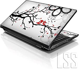 "LSS Laptop 15 15.6 Skin Cover with Colorful Lovebirds Eye Catching Pattern for HP Dell Lenovo Apple Asus Acer Compaq - Fits 13.3"" 14"" 15.6"" 16"" (2 Wrist Pads Free)"