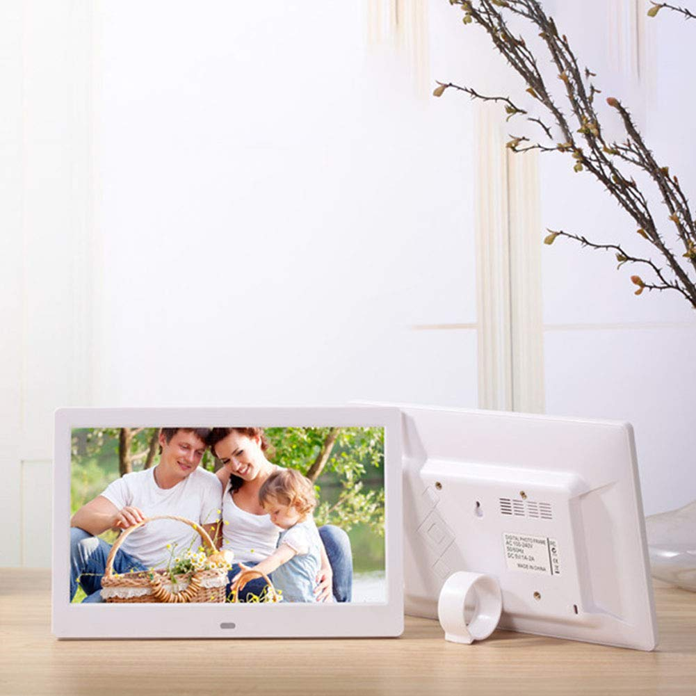 RONSHIN Video Converters-10.1 Inch Widescreen Digital Photo Frame HD Ultra-Thin LED Electronic Photo Album LCD Photo Frame White UK Plug,Audio Video Accessories