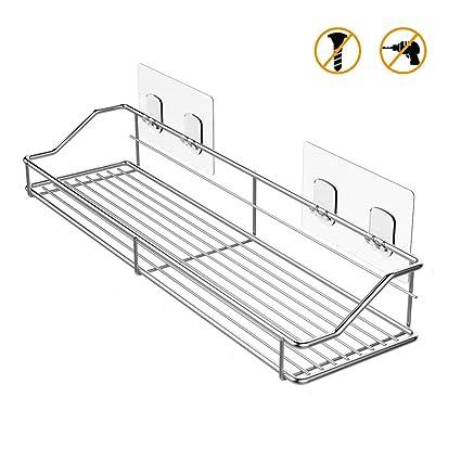 Amazon.com: ODesign Adhesive Shower Caddy Shelf Bathroom Shelf ...