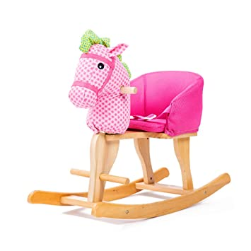 Caballitos de madera Juguete para niños de caballo mecedora Trojan silla para niños mecedora de madera
