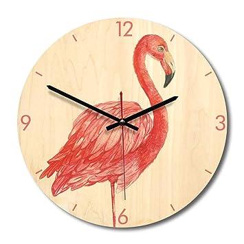 YAHAMA Reloj de Pared Flamenco Silencioso Vintage Madera MDF: Amazon.es: Hogar