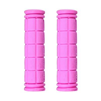 BESPORTBLE 1Pair Bicycle Handlebar Grip Soft Rubber Non-Slip Handlebar Grips Handlebar Covers Pink : Sports & Outdoors