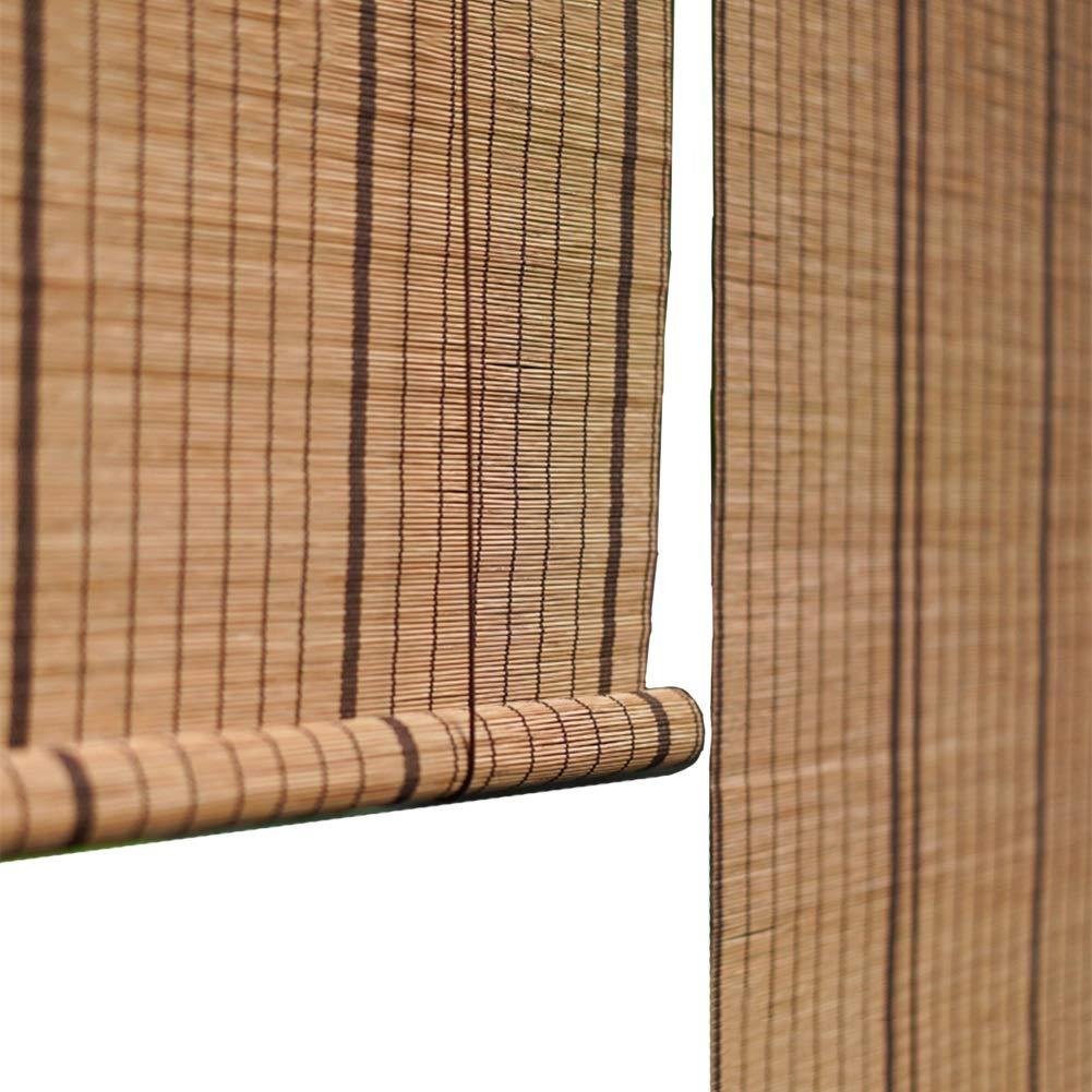 すだれ 竹カーテン60%遮光垂直遮光、サイドプル付き竹ローラーシェード、廊下、茶店に適して (サイズ さいず : 120×200cm) 120×200cm  B07PR3QSGY