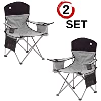 $137 » Coleman Portable Camping Quad Chair with 4-Can Cooler