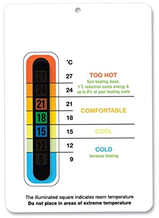 energy saving eco room thermometer white save the environment
