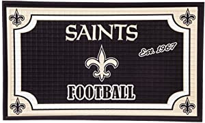 "Team Sports America New Orleans Saints NFL Embossed Outdoor-Safe Mat - 30"" W x 18"" H"