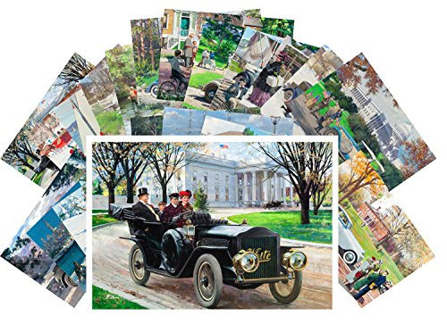 Postcard Set 24 cards Classic Cars Vintage Ads Posters Advert American European