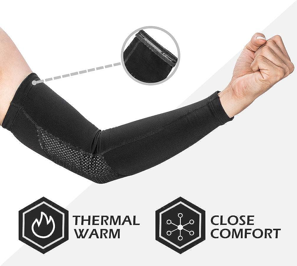 ROCKBROS Winter Thermal Sleeves Riding Sports Windproof Cuff  Arm Warmer Black