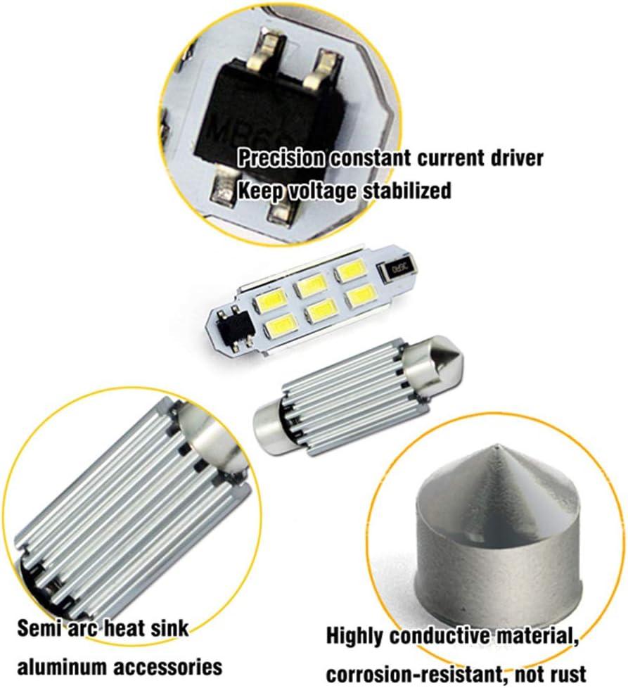 SOCAL-LED 2 x 31mm 3022 Adorno de Canbus Bombillas LED de Alta Potencia 6W Brillante SMD 5730 Interior de la luz de Techo Rojo luz de Mapa