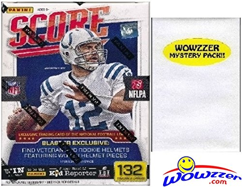 - 2016 Score NFL Football HUGE EXCLUSIVE Factory Sealed Retail Box with 132 Cards & Special HELMET Card! Includes over 30 Rookie Cards Plus Bonus Wowzzer Mystery Pack with AUTOGRAPH or MEMORABILIA Card!