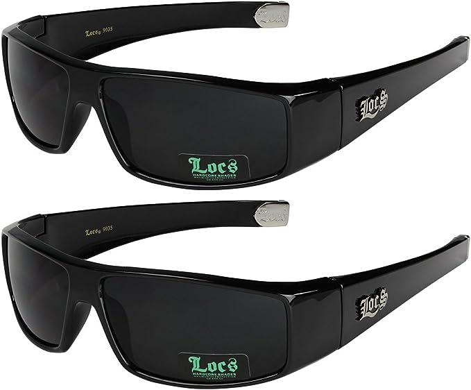 2er Pack Locs 2003 Choppers Sportbrille Sonnenbrille Herren Damen schwarz weiß