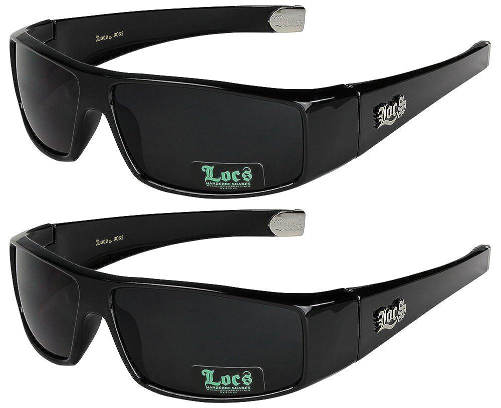 LOCS® 2er Pack Sonnenbrillen Motorradbrille Sportbrille Radbrille in den Farben weiß und schwarz