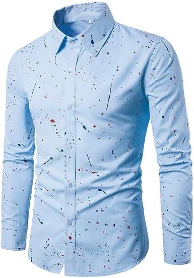 Camisas Hombre Moda Hombres Camisa Casual Slim De Fit Camisa Manga Larga Mode De Marca Top Blusa Tops Mandarín Camisa Casual Camisa De Manga Larga Camisa De Negocios: Amazon.es: Ropa y accesorios