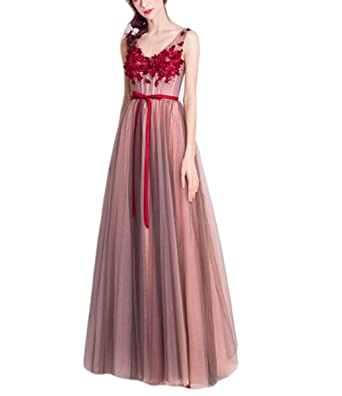 VikDressy Women\'s Pink Grey A-Line Appliques With Belt Pregnant Prom ...