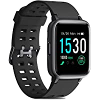 CHEREEKI 1.3'' Color Screen Waterproof Fitness Tracker Smartwatch with Heart Rate Monitor (Several Colors)