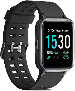 CHEREEKI 1.3'' Color Screen Waterproof Fitness Tracker Smartwatch