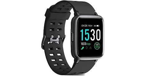 CHEREEKI 1.3'' Color Screen Waterproof Fitness Tracker Smartwatch only $22.99