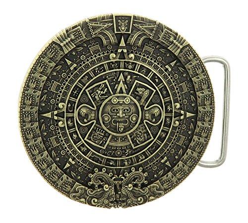 Mayan Calendar Bronze Belt Buckle