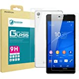 Rhidon Sony Xperia Z3 (Front + Back) Tempered Glass Screen Protectors Anti Fingerprint Bubble Free Shatterproof Shockproof Protective Skin Film for Sony Xperia Z3