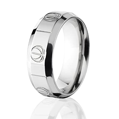 Basketball Wedding Ring Basketball Wedding Band Custom USA Made