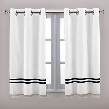 Amazon Hookless Tuxedo Window Panel Special Size Shower Curtain