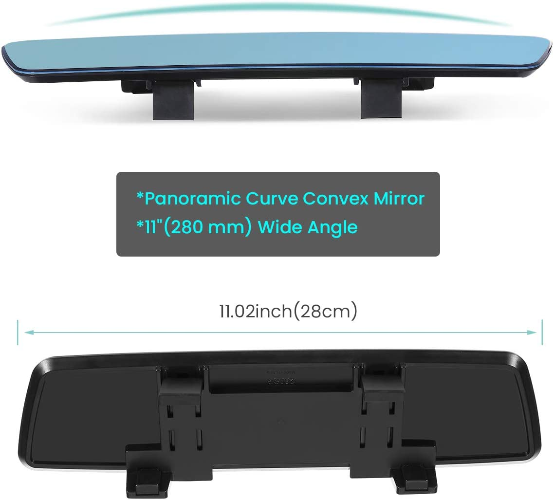 Rear View Mirror Wide Angle Anti Glare Rearview