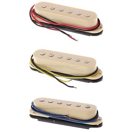 Amazon com: ULKEME 3pcs Electric Guitar SQ ST Single Coil