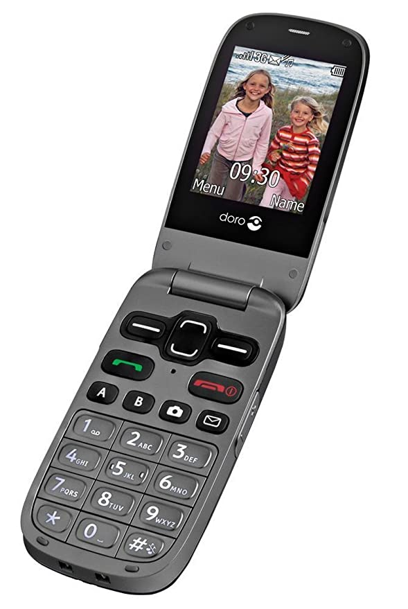 Doro Phoneeasy 621 Uk Sim Free Mobile Phone Black Amazon