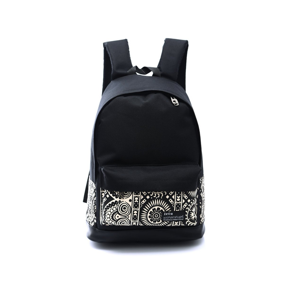 ThinkMax Children Fashion Casual Lightweight Canvas School Backpack Rucksack Travel Bags Black UK-I13822-LOVE