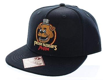 39e2fb513c9885 Five Nights at Freddys Freddy Fazbear's Pizza Snapback Hat: Amazon ...