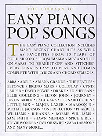 The Library Of Easy Piano Pop Songs Kindle Edition By Wise
