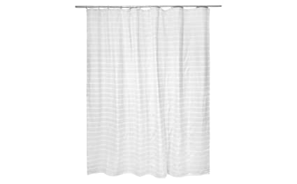 Amazon Light Stripe Shower Curtain 72x72 Gray White