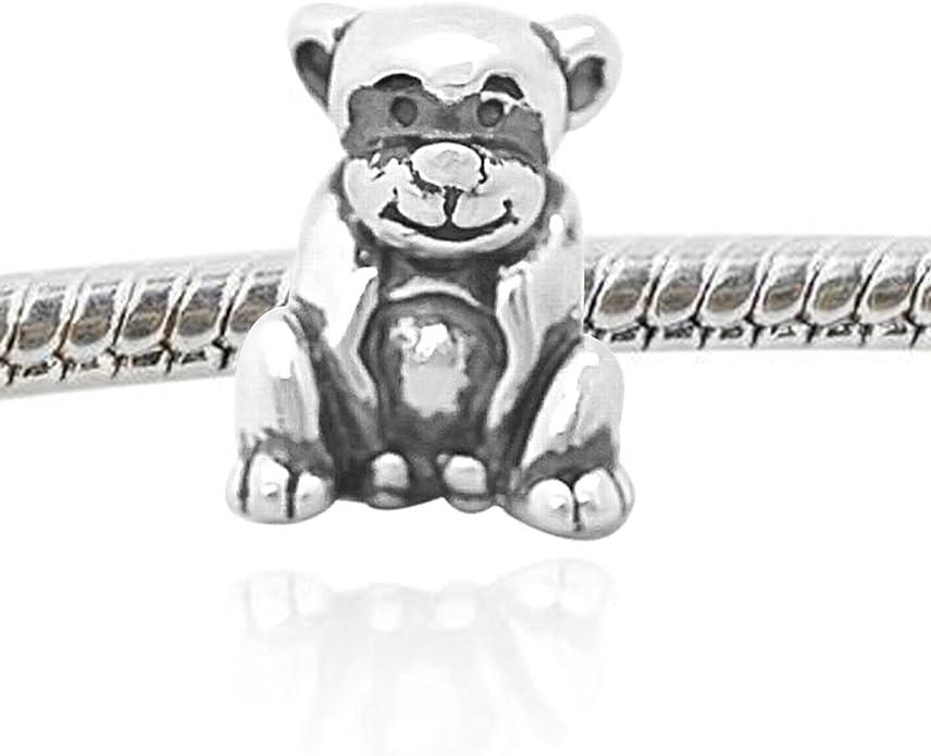De Buman Sterling Silver Dress Charm Bead-fits Charm Bracelets