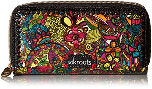 sakroots-artist-circle-double-zip-wallet
