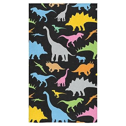 """Personalizado dinosaurio toalla de mano toallas de baño cuarto de baño ducha de 16 """""""